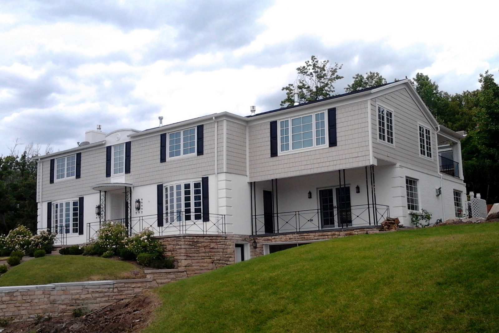 Before two story Traditrional Home Remodel Exterior | Renovation Design Group