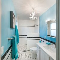 After_Interior Renovation_Blue Bathroom_Master Contemporary | Renovation Design Group