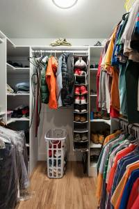 Large walk in closet Bungalow home