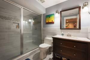 Basement Bathroom win traditional style