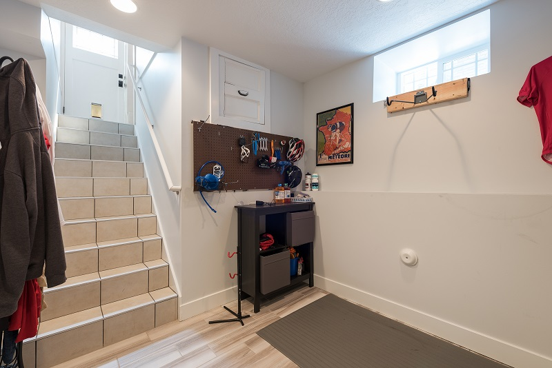 Mudroom addition in a basement Bungalow Remodel
