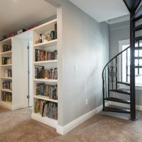 After_Interior_Second Story_Spiral Staircases_Built in Book Shelves_2nd Ave Reconstruction | Renovation Design Group