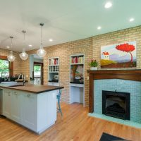 After_Interior Remodels_Kitchen Fireplace_Craftsman Design | Renovation Design Group