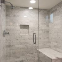 After_Interior_Stand Up Shower_Seated bench Shower | Renovation Design Group