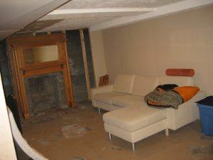 Before_Interior_Family Room Basement_Bungalow Basement Family Room   Renovation Design Group