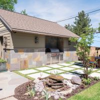 After Exterior Back Porch Remodel Outside Spaces Exterior Garage Blaine Avenue Addition | Renovation Design Group