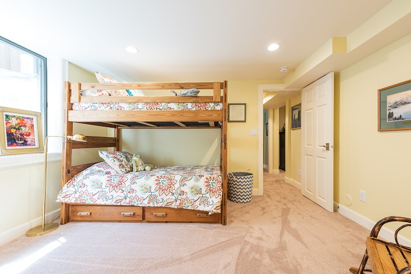 After Interior Basement Bedrooms Bunk Beds Blaine Avenue Addition Renovation Design Group