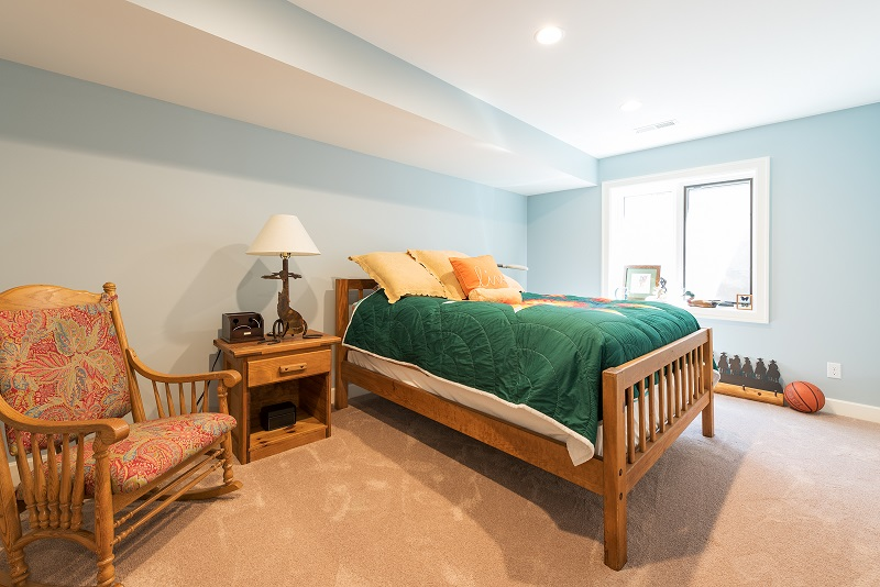 After Interior basement bedroom Remodel Basement Remodel Blaine Avenue Addition | Renovation Design Group