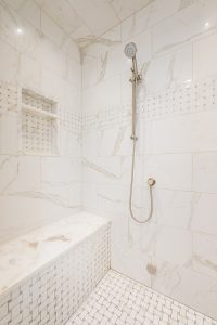 After Interior granite shower bathroom Remodel Basement Remodel Blaine Avenue Addition | Renovation Design Group