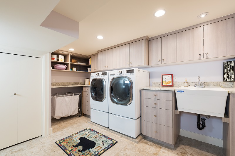 After Interior Laundry Room Remodel Basement Remodel Blaine Avenue Addition | Renovation Design Group