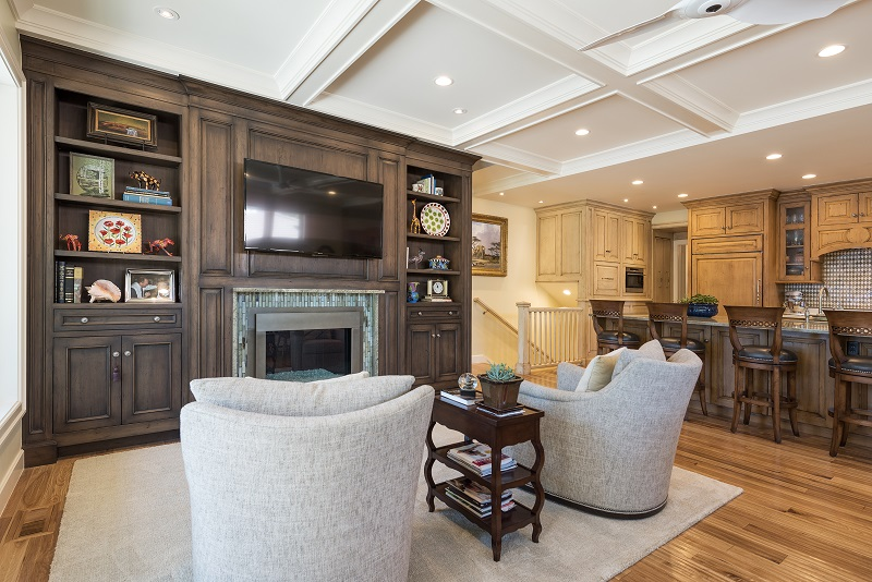 After Interior family room great room Remodel Basement Remodel Blaine Avenue Addition | Renovation Design Group