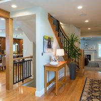 Briarcreek Contemporary, Interior MainFront Entry Remodel by Renovation Design