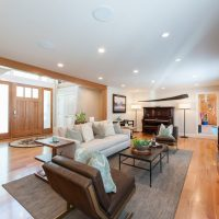 Briarcreek Contemporary, Interior Main Great Room Remodel by Renovation Design