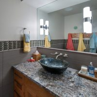 Briarcreek Contemporary, Interior Pool Bathroom Remodel by Renovation Design