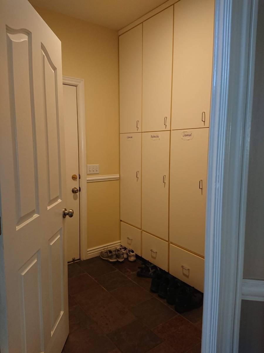 Before Mudroom turned bathroom
