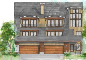During Construction, Modern Home Remodeling Exterior Update Rendering   Renovation Design group