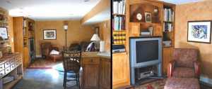 Family Room Remodel in basement | Renovation Design Group