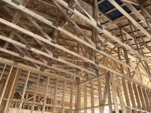 Trusses, roofing, framing. ducts, new construction, hillside Villa, blog post