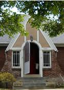 Original Tudor Style Entry before renovation | renovation Design Group