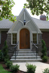 Updated and Renovated tudor style entry before renovation | Renovation Design Group