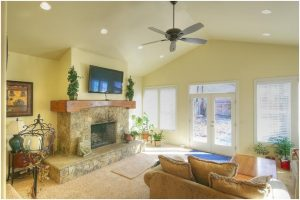 Traditional Family room in East Cape Home | Renovation Design Group