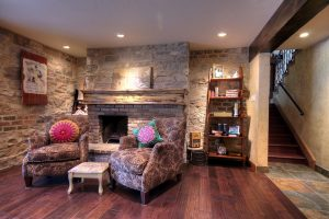 Great Room Tudor Remodel, Fireplace | Renovation Design Group