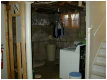 Basement Laundry Room Before Remodel | Renovation Design group