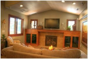 Cottage Home Living Room with Fireplace | Renovation Design Group