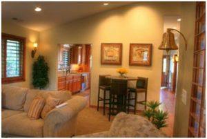 Cottage Home Living Room Cottage Home Entry | Renovation Design Group