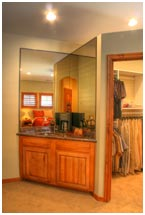 Master Suite Wet Bar and Closet Master Suite Entry to Master Bathroom | Renovation Design Group
