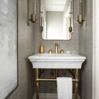 Luxury powder room