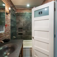 After_Interior Renovation_Blue Bathroom_Contemporary | Renovation Design Group
