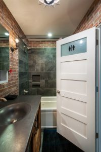 After_Interior Renovation_Blue Bathroom_Contemporary | Renovation Design Group