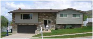 Split Level 1970's Home before ExteriorCurb Appeal | Renovation Design Group