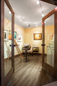 After Home Office Art Studio | Renovation Design Group