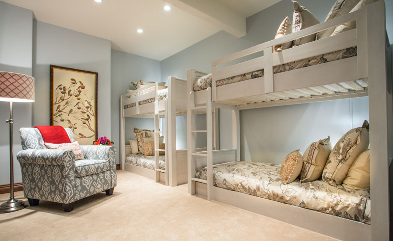 After Mountain Retreat Condo Bedroom Remodel Custom Loft beds | Renovation Design Group