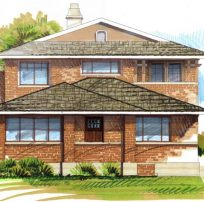 Bungalow Second Story Addition Rendering | Renovation Design group